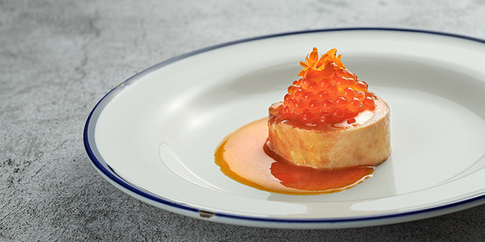 Ankimo, Escabetxe, Carrot Gel, Yarra Valley Trout Roe from Basque Kitchen by Aitor in Telok Ayer, Singapore