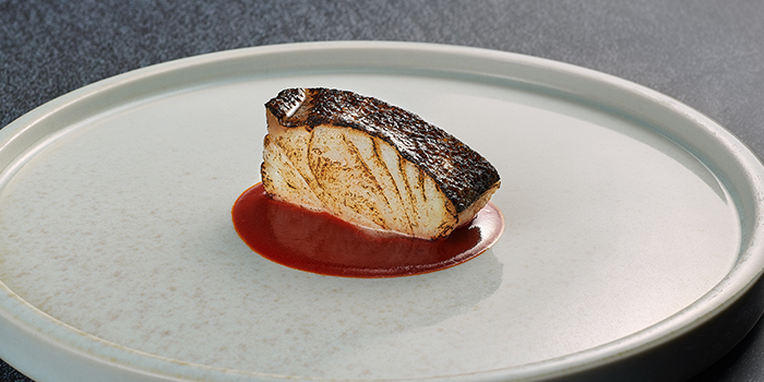 Bakalao, Charcoaled Desalted Atlantic Cod, Vizcaina Sambal from Basque Kitchen by Aitor in Telok Ayer, Singapore