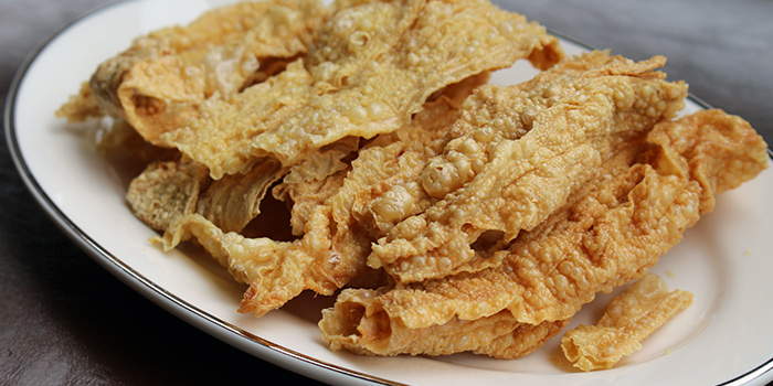 Beancurd Skin from Chao Niu Hot Pot in East Coast, Singapore