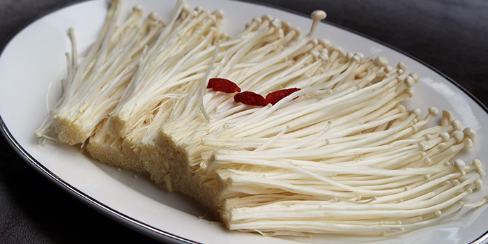 Enoki Mushroom from Chao Niu Hot Pot in East Coast, Singapore