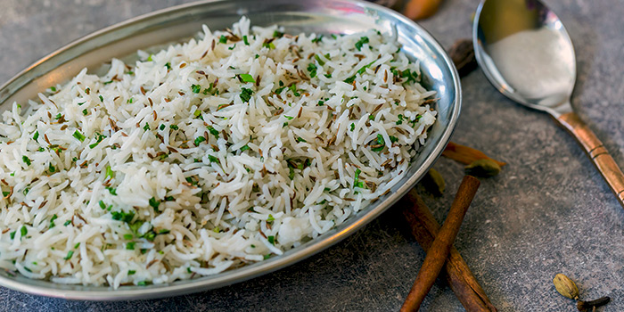 Jeera Rice from Kurry Corner in River Valley, Singapore