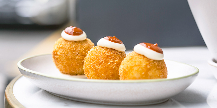 Bombas from Barcelona from Olivia Restaurant & Lounge in Keong Saik, Singapore