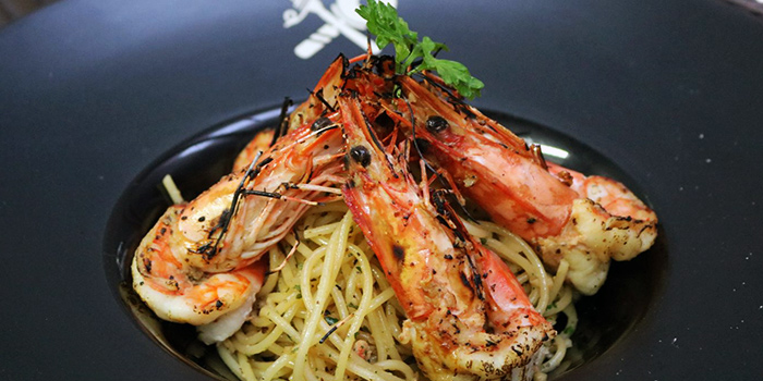 Prawn Aglio Olio from Pasta e Formaggio at Marina Square Mall in Promenade, Singapore