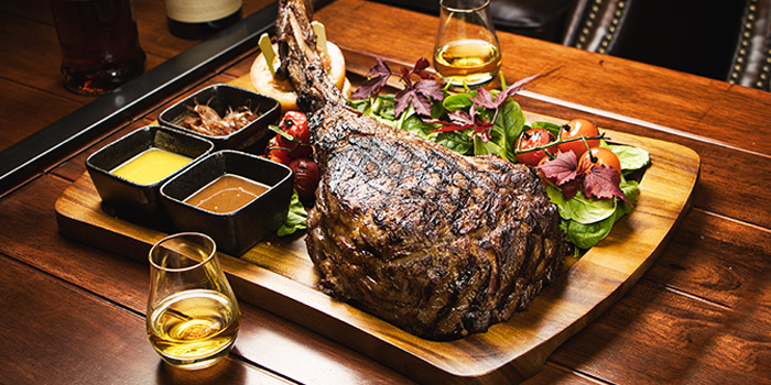 Black Angus Tomahawk from The Cooperage in Clarke Quay, Singapore