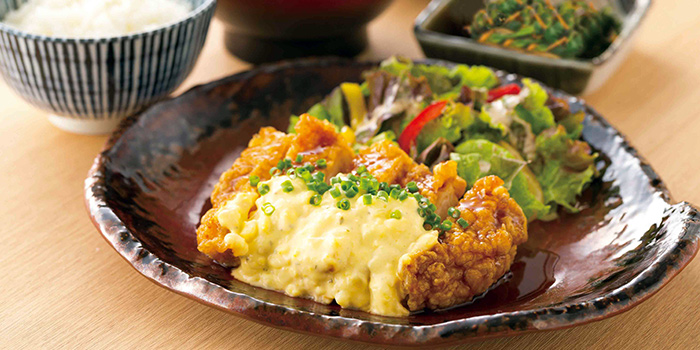 Chicken Namban Teishoku from YAYOI Japanese Restaurant at 100AM in Tanjong Pagar, Singapore