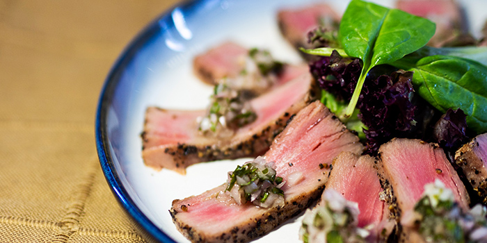 Seared Tuna Saku from Mr Punch Public House in City Hall, Singapore