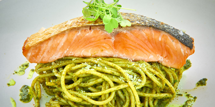 Spaghetti Salmon from D
