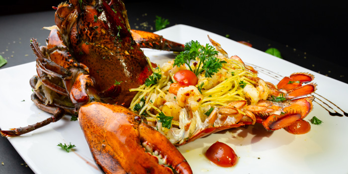 Spaghetti with Whole Lobster from Sala Rossa at The Grand Building Soi Mahadlekluang 2,Rajdamri Rd Lumpini,Pathumwan Bangkok