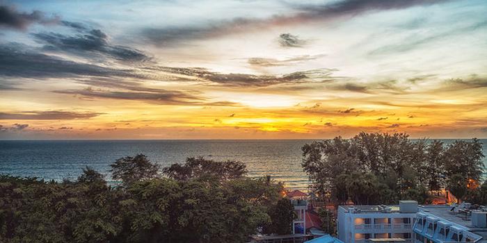 The View of Portosino in Karon, Phuket, Thailand.