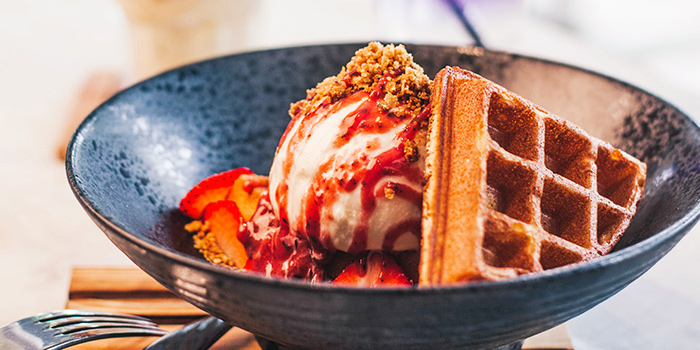 Waffle & Ice Cream from Inspirit House at The Punggol Settlement in Punggol, Singapore