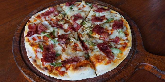 Pizza at Double Doors Bar & Restaurant