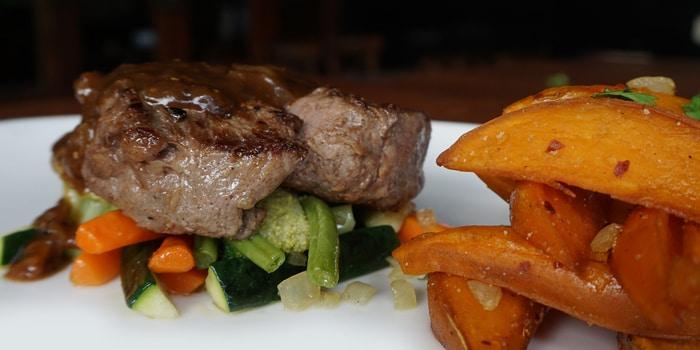 Steak at Double Doors Bar & Restaurant