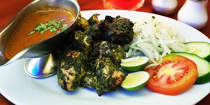 Boneless Green Chicken Tikka at Eastern Promise