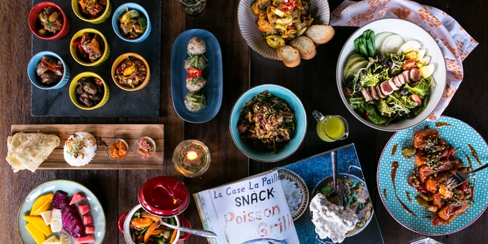 All Foods on the table at Ti Moris, Seminyak