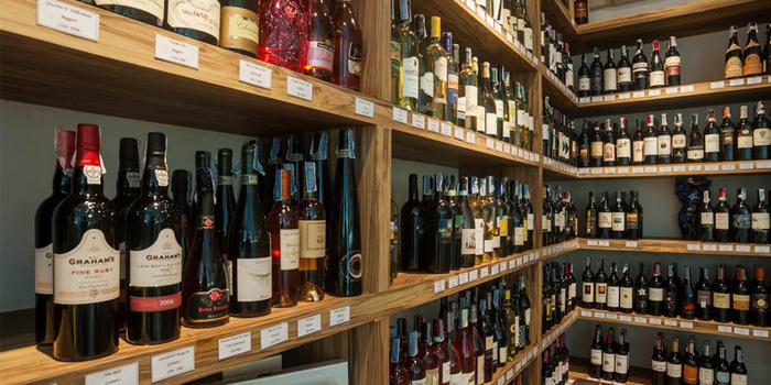 Wine Cellar of Bocconcino Cafe in Cherngtalay, Phuket, Thailand
