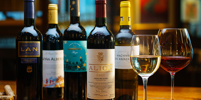 Wine Selection from La Taperia Wine & Tapas at Shaw Centre in Orchard, Singapore