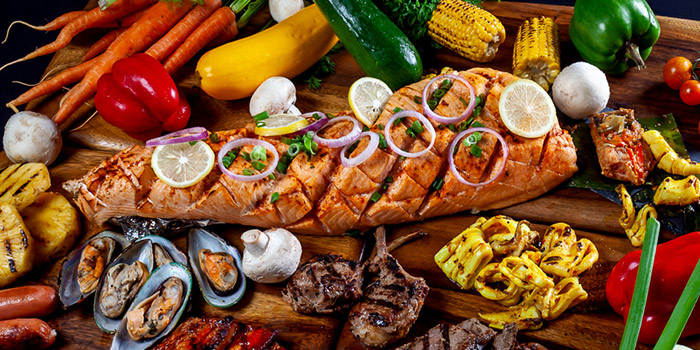 Weekend BBQ Buffet Spread from Cocobolo Poolside Bar + Grill at Park Hotel Clarke Quay in Robertson Quay, Singapore