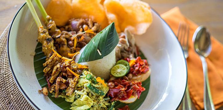 Food from Plataran at Canggu, Bali