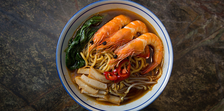 Prawn Noodles from Katong Kitchen at Village Hotel Katong in East Coast, Singapore