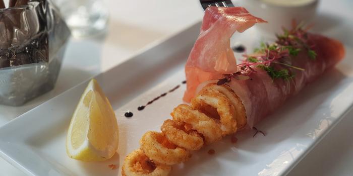 Fried Calamari Wrap with Parma Ham from The Ninth Cafe