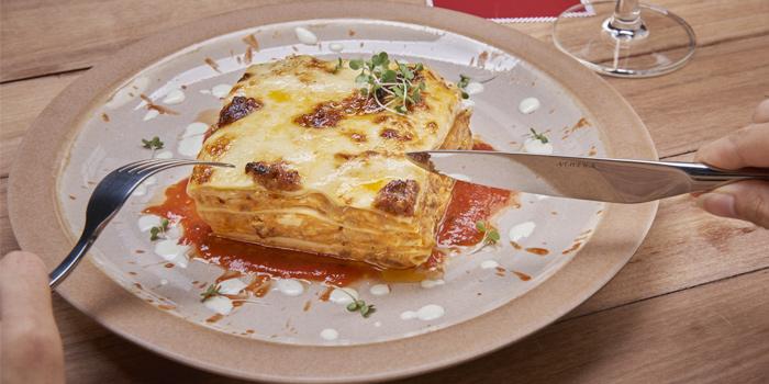 Lasagna from Mozza Patong in Patong, Phuket, Thailand.