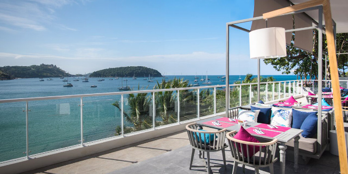 Atmosphere of  Cosmo in Nai Harn, Phuket, Thailand.