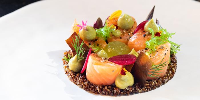 Salmon & Quinoa from ZOOM Sky Bar and Restaurant at Anantara Sathorn Bangkok Hotel 36 Naradhiwat Rajanagarindra Rd, Khwaeng Yan Nawa Bangkok