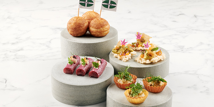 Snacks from JAAN By Kirk Westaway at Swissotel the Stamford in City Hall, Singapore