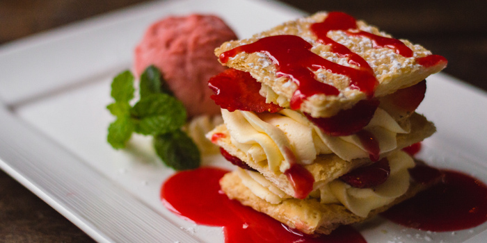 Strawberry Millefeuille from Cantina Pizzaria & Italian Kitchen at 26/3, (Room A4- A5) Soi Sukhumvit 11, Sukhumvit Rd Klong Toey Nua, Wattana Bangkok
