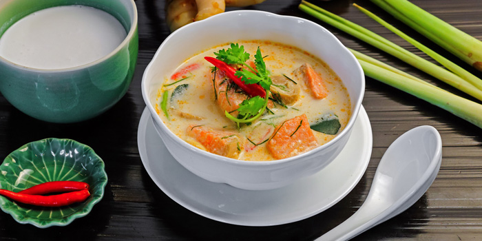 Tom Kha from Erawan Tea Room Restaurant at Grand Hyatt Erawan, Bangkok