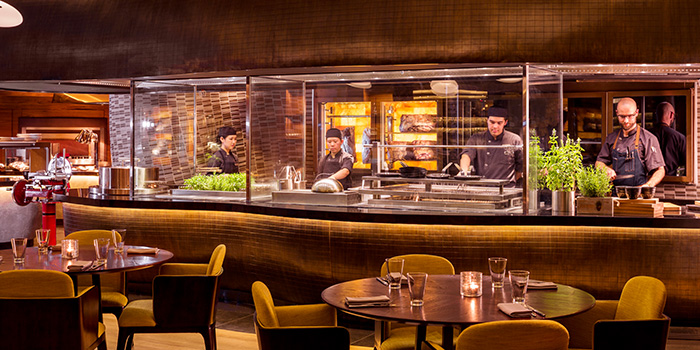 Interior of Opus Bar & Grill in Hilton Hotel along Orchard Road, Singapore