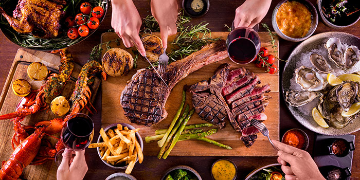 Sharing Cuts from Opus Bar & Grill in Hilton Hotel along Orchard Road, Singapore