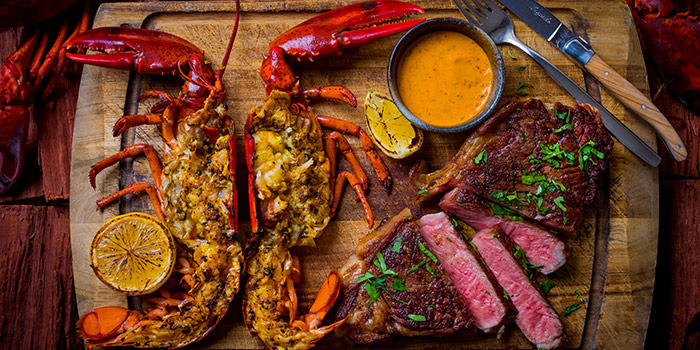 500g Westholme Wagyu & Whole Live Boston Lobster from Opus Bar & Grill in Hilton Hotel along Orchard Road, Singapore