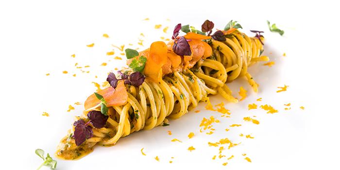 Hokkaido Sea Urchin Spaghetti from il Cielo at Hilton Singapore in Orchard, Singapore