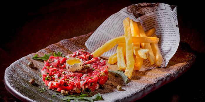 Hand-cut Steak Tartare from Opus Bar & Grill in Hilton Hotel along Orchard Road, Singapore