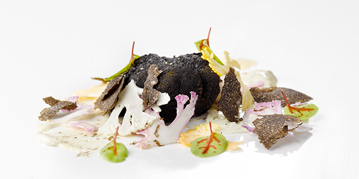 New Charcoal crusted Hokkaido Scallop from il Cielo at Hilton Singapore in Orchard, Singapore