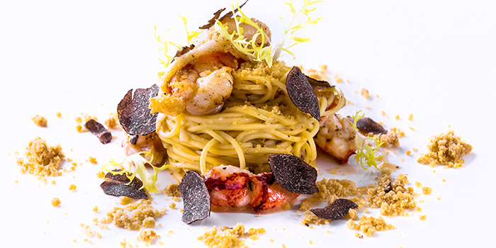 Homemade Capellini Maine lobster from il Cielo at Hilton Singapore in Orchard, Singapore