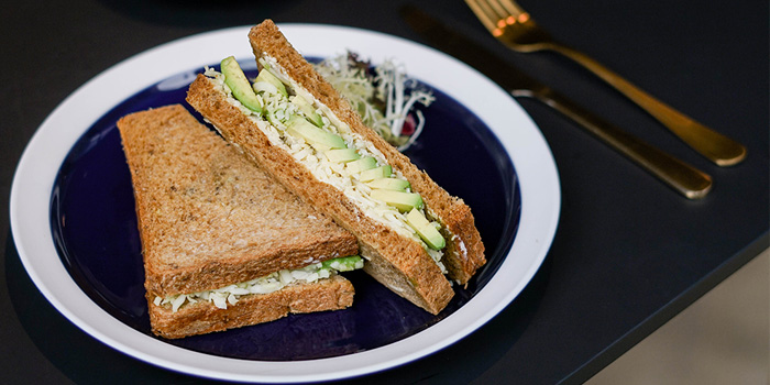 Avocado Sandwich, Next Door Cafe & Bar, Causeway Bay, Hong Kong