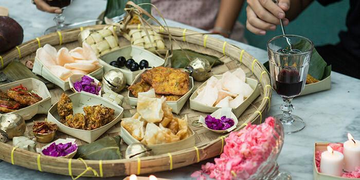 Food at Balique in Jimbaran, Bali