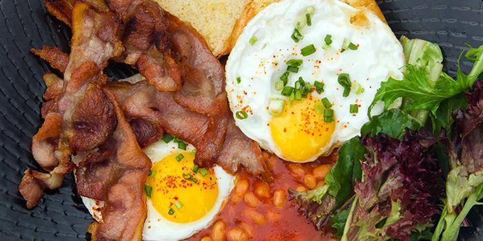 Big Breakfast of Ola Beach Club at Siloso Beach in Sentosa, Singapore
