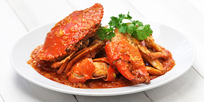 Chili Crab from The FernTree Cafe at Hotel Miramar in River Valley, Singapore