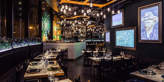 Dining Area, Van Gogh Senses, Tsim Sha Tsui, Hong Kong