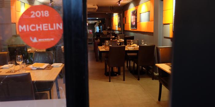 Entrance of La Table De Tee Restaurant at 69/5 Soi Saladeang Silom Road Bangkok