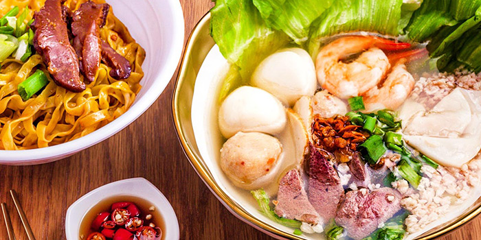 Fishball Ba Chor Me from Ah Ter Teochew Fishball Noodle Bar in Boat Quay, Singapore