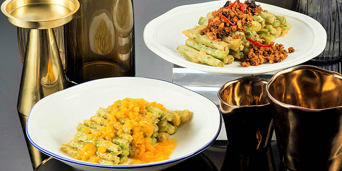 Green Beans with Salted Egg Yolk, Yum Cha, Causeway Bay, Hong Kong