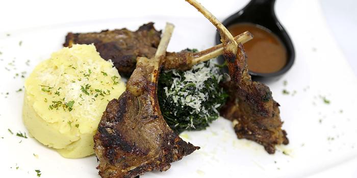 Grilled Lamb Chop from Sole Mio Pizzeria Italian Restaurant Wine Bar at Akkhara Phat Alley Khlong Tan Nuea, Khet Watthana Bangkok