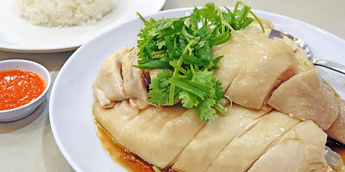 Hainanese Chicken Rice from The FernTree Cafe at Hotel Miramar in River Valley, Singapore