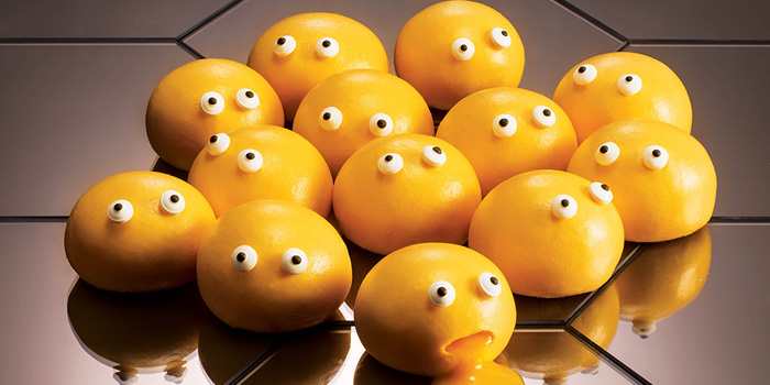 Hot Custard Molten Buns, Yum Cha, Causeway Bay, Hong Kong