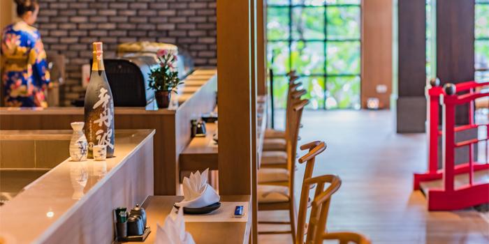 Interior of Kiko Japanese Restaurant in Patong, Phuket, Thailand.