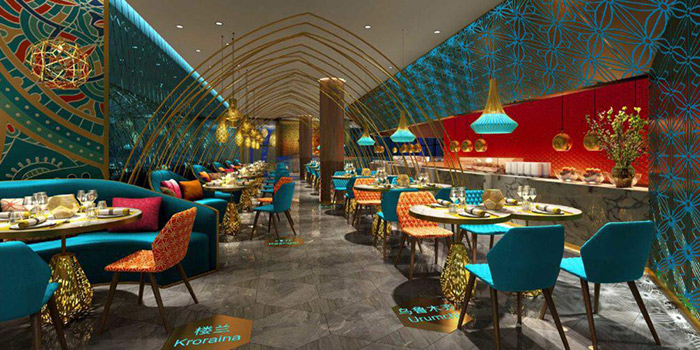 Interior from Alijiang 阿里疆 at VivoCity in Harbourfront, Singapore